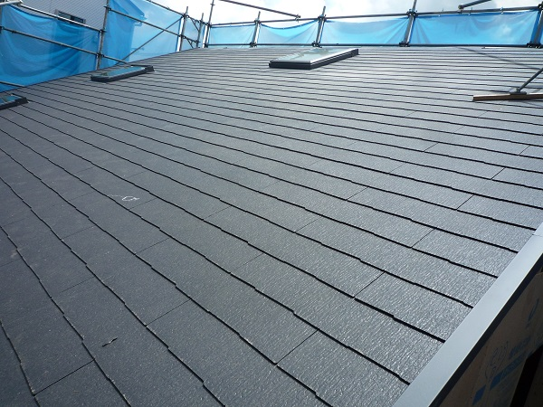 片流れ屋根完成です